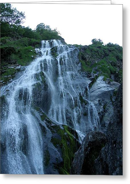 Greeting Card featuring the photograph Powers Court Waterfall by Rebecca Wood