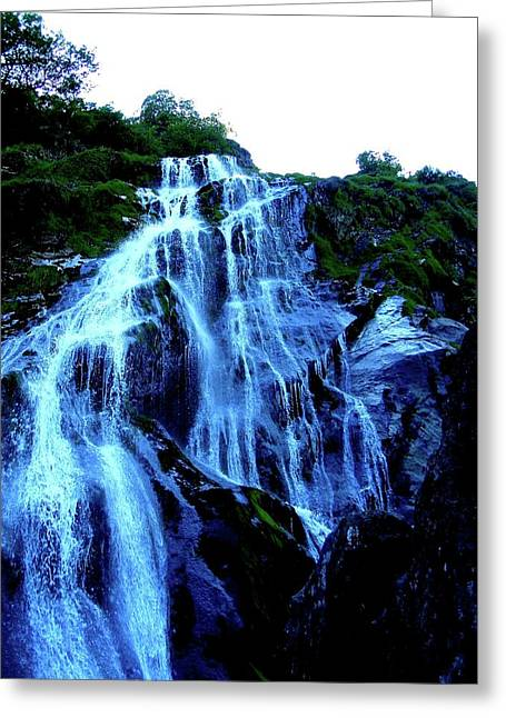 Greeting Card featuring the photograph Powers Court Waterfall Version 2 by Rebecca Wood
