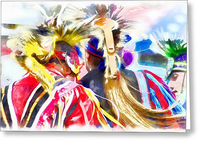 Powwow 18 Greeting Card