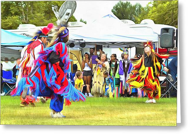 Powwow 33 Greeting Card