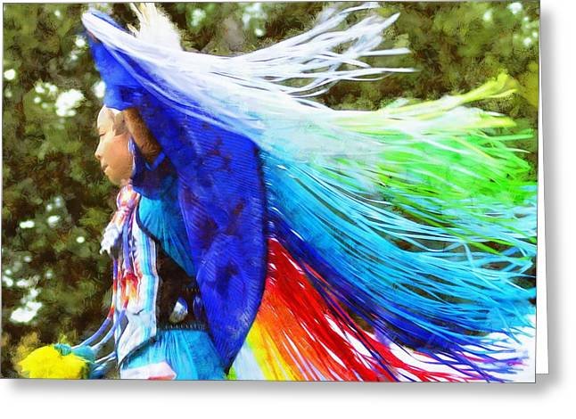 Powwow 34 Greeting Card