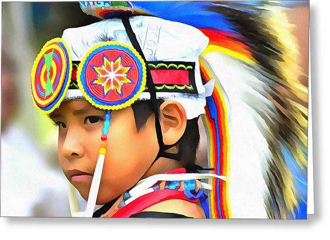 Powwow 7 Greeting Card