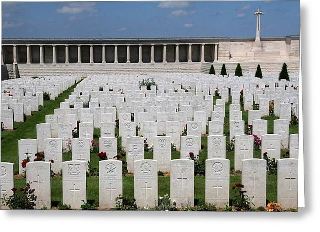 Pozieres British Cemetery Greeting Card by Travel Pics