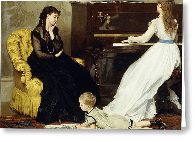Practicing Greeting Card by Gustave Leonard de Jonghe
