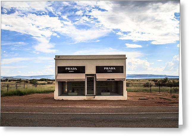 Prada Marfa Greeting Card by Robert J Caputo