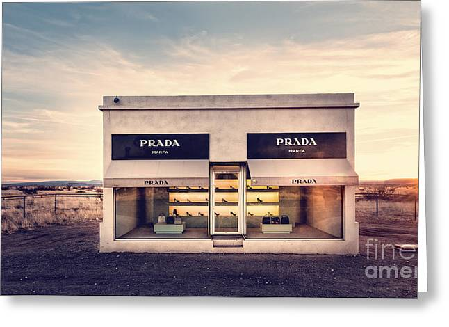 Prada Store Greeting Card by Edward Fielding