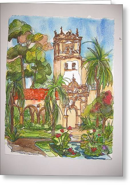 Prado- Balboa Park Greeting Card by Michelle Gonzalez