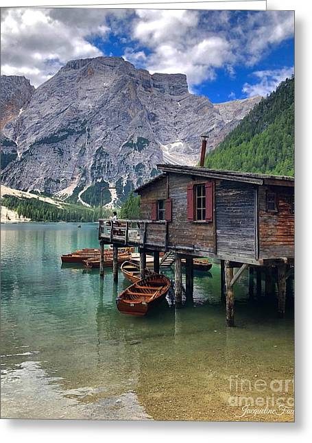 Pragser Wildsee View Greeting Card