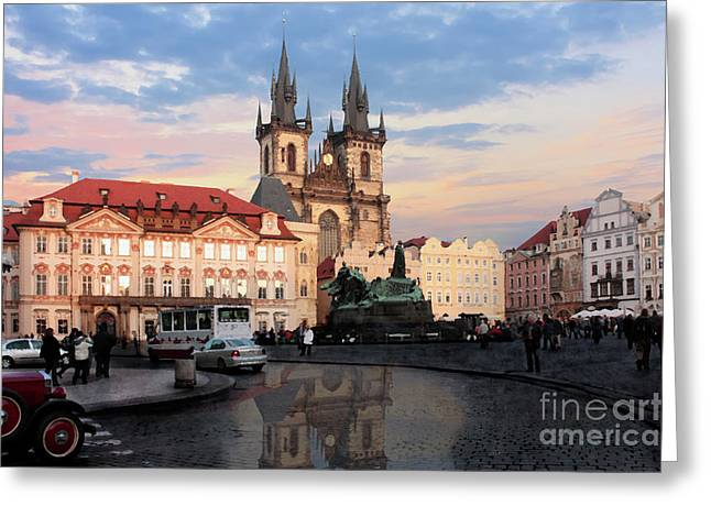 Prague After The Rain Greeting Card