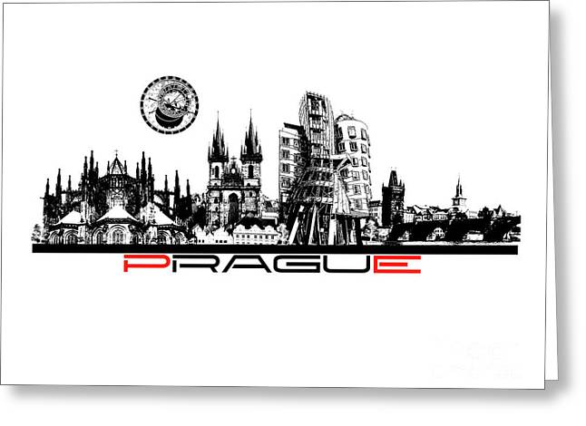 Prague Art Greeting Card