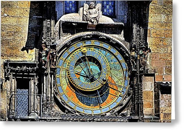 Prague Astronomical Clock 2 Greeting Card