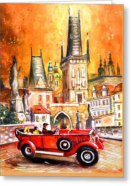 Prague Authentic 01 Greeting Card by Miki De Goodaboom