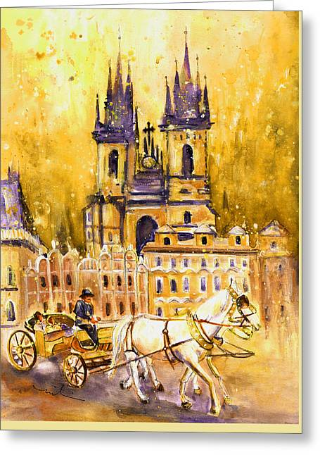 Prague Authentic 02 Greeting Card by Miki De Goodaboom