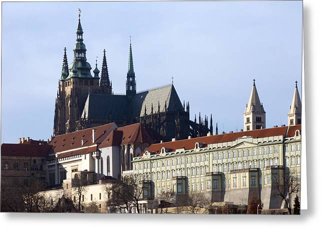 Prague Castle And St. Vitus Cathedral Greeting Card