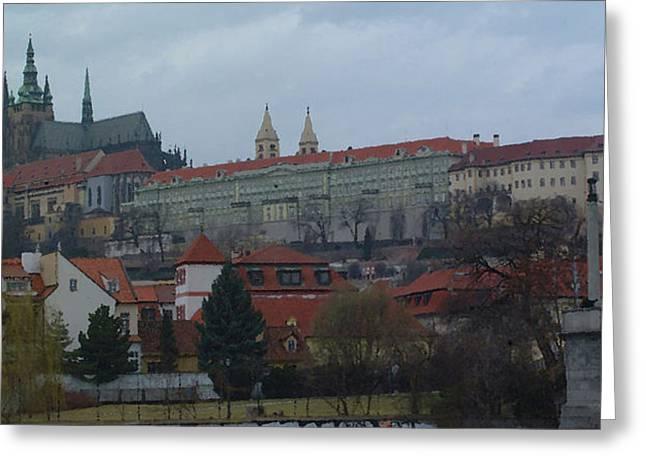 Czech Republic Photographs Digital Greeting Cards - Prague Castle in Prague Czech Republic Greeting Card by Paul Pobiak