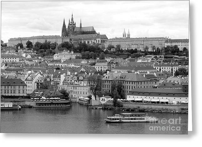 Prague Castle Greeting Card by Keiko Richter