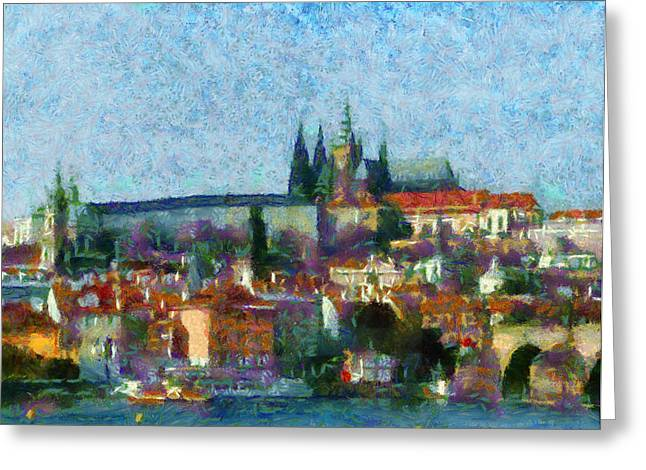 Prague Castle Digital Greeting Cards - Prague Castle Greeting Card by Peter Kupcik
