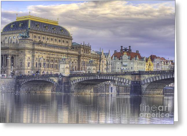 Prague, Czech Republic Greeting Card by Juli Scalzi