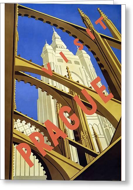 Prague Greeting Card by David Wagner