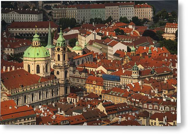 Prague From Above Greeting Card