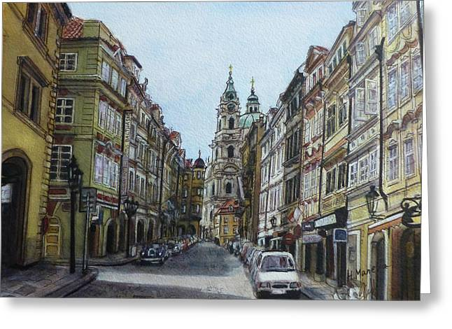Prague IIi Greeting Card by Henrieta Maneva