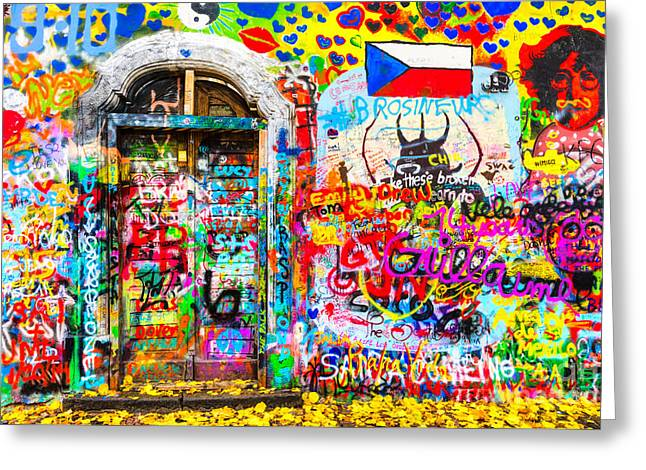 Prague - John Lennon Wall Greeting Card by Luciano Mortula
