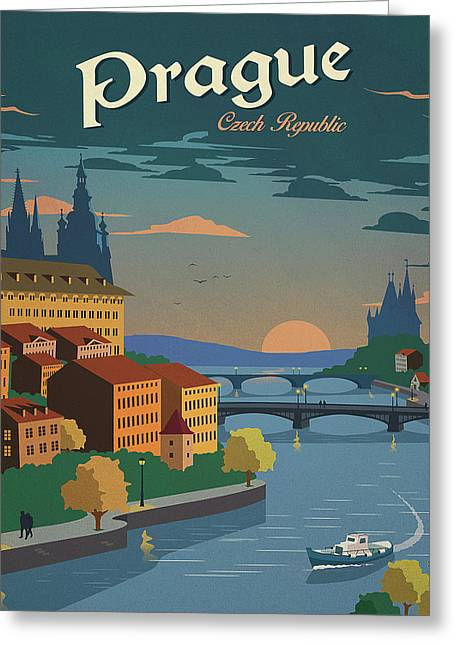 Prague Greeting Card by Long Shot