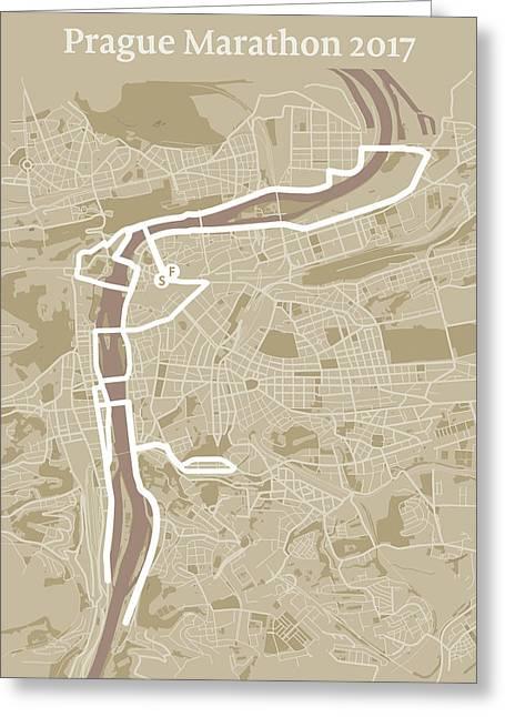 Prague Marathon #1 Greeting Card