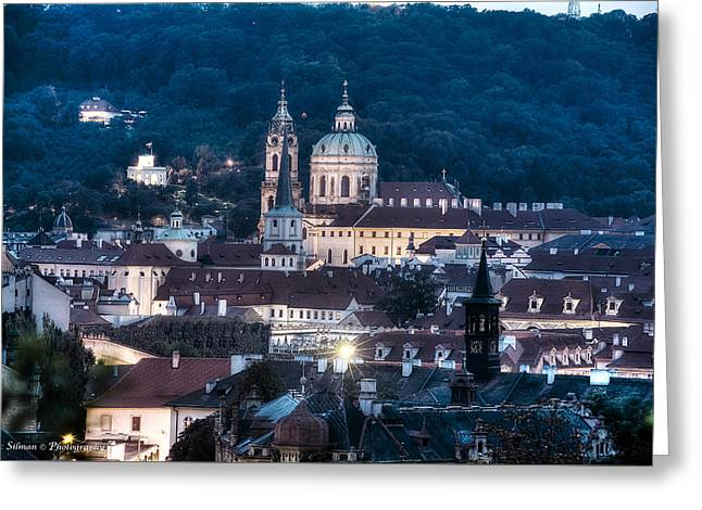 Prague Old City Greeting Card by Isaac Silman