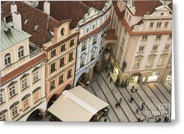 Prague. Old Town Square Greeting Card by Juli Scalzi