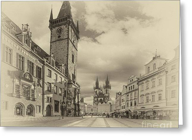 Prague Old Town Square Greeting Card by Prague ArtPrints
