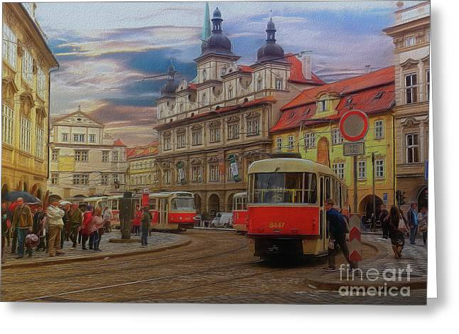 Prague, Old Town, Street Scene Greeting Card