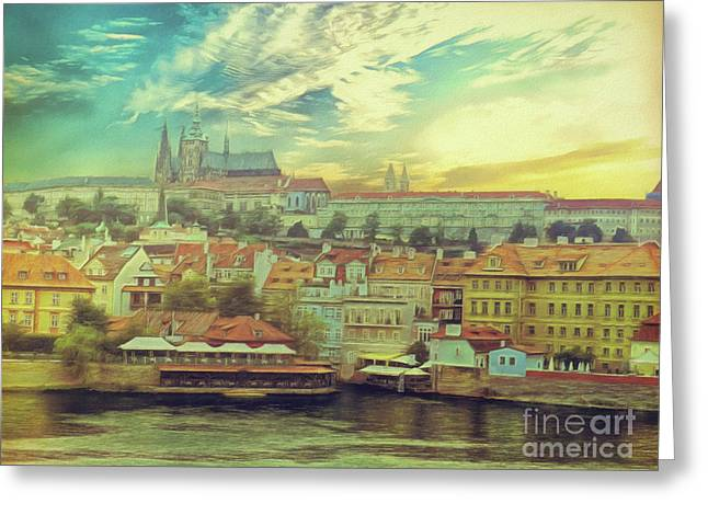 Prague Riverview Greeting Card