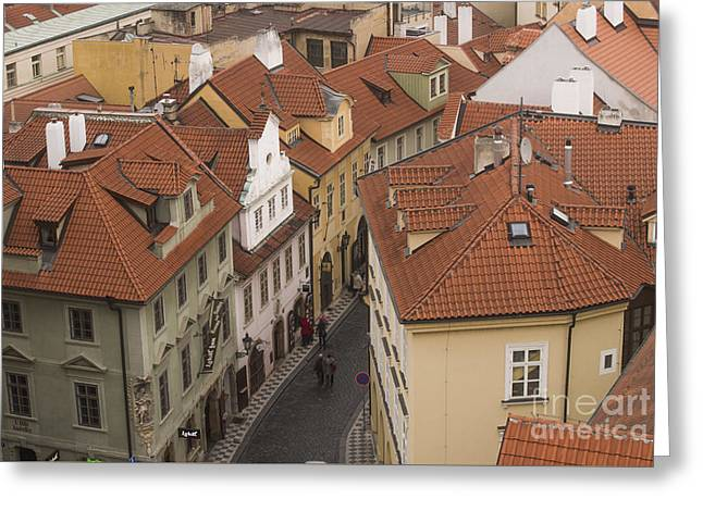 Prague Rooftops Greeting Card by Juli Scalzi