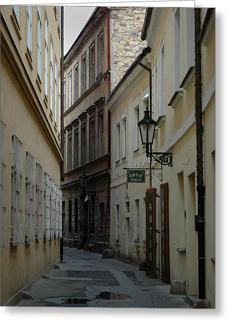 Greeting Card featuring the photograph Prague by Steven Richman