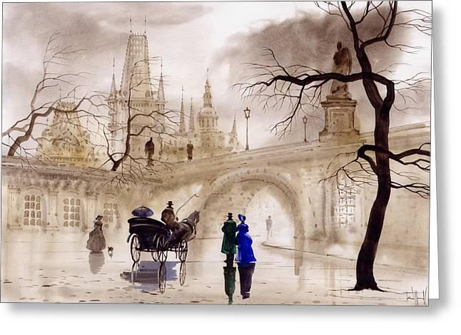 Prague Greeting Card by Svetlana and Sabir Gadghievs