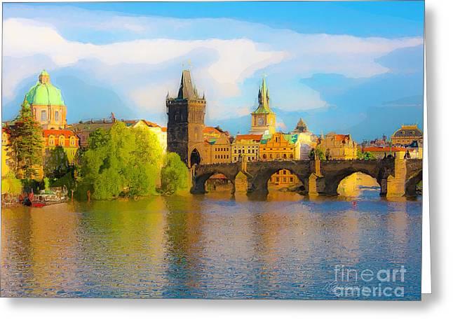 Praha - Prague - Illusions Greeting Card