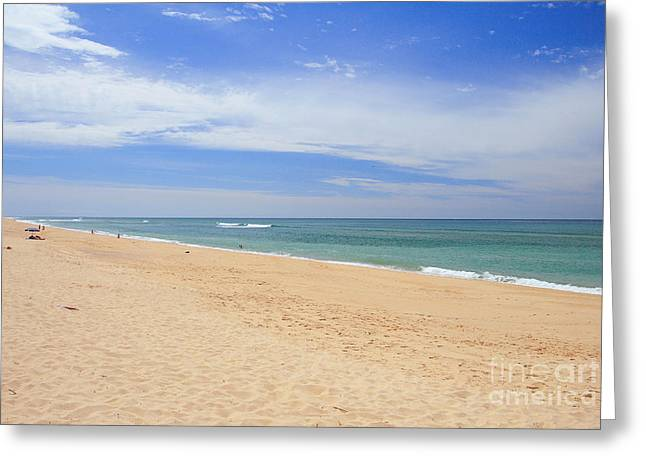 Praia De Faro Greeting Card by Carl Whitfield