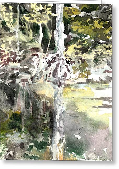 Praire Oaks Greeting Card by Mindy Newman