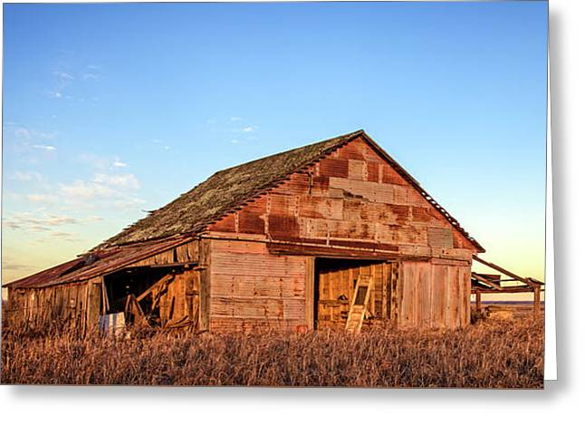 Prairie Barn Greeting Card by Charles Dobbs