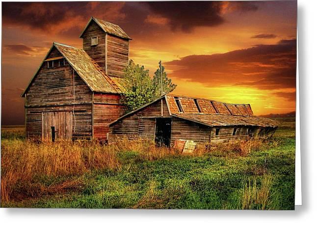 Prairie Barns Greeting Card