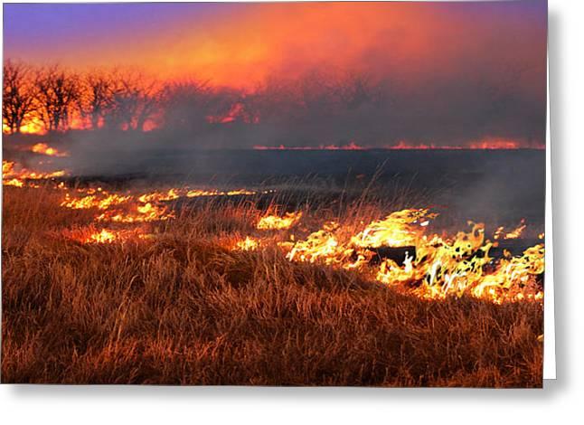 Prairie Burn Greeting Card