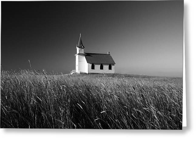 Prairie Chapel Greeting Card by Todd Klassy