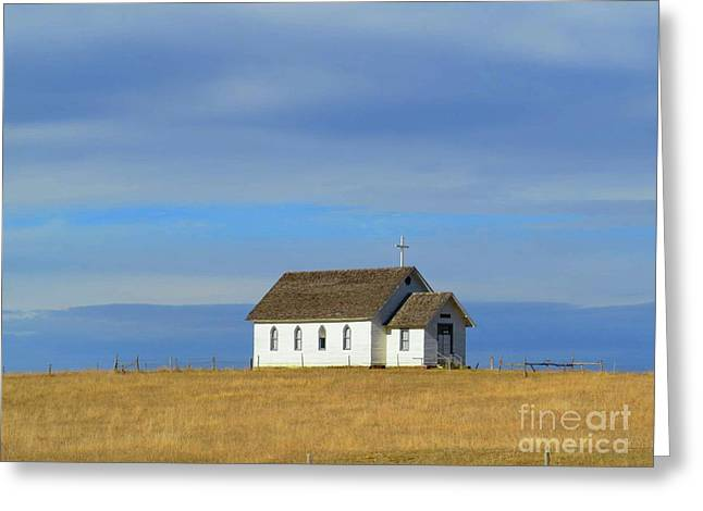 Prairie Churrch Greeting Card by Desiree Paquette