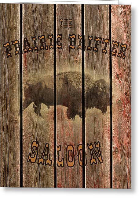 Prairie Drifter Saloon Greeting Card by TL Mair