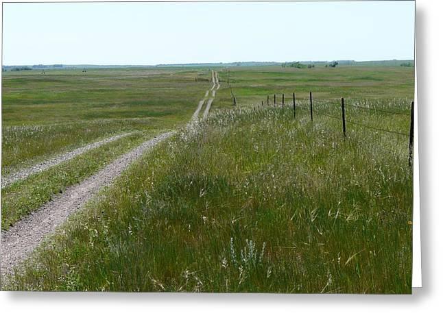 Prairie Greeting Card by Ellen  Leigh
