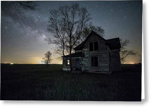 Prairie Gold And Milky Way Greeting Card by Aaron J Groen