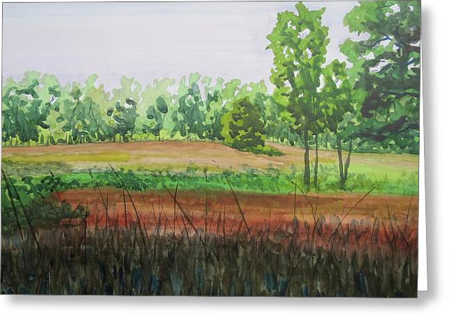 Prairie Grass Field Greeting Card by Bethany Lee