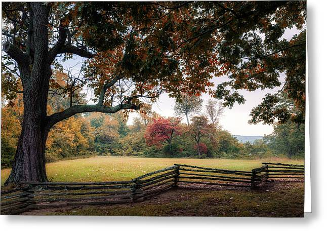 Prairie Grove Fence Line Greeting Card by James Barber