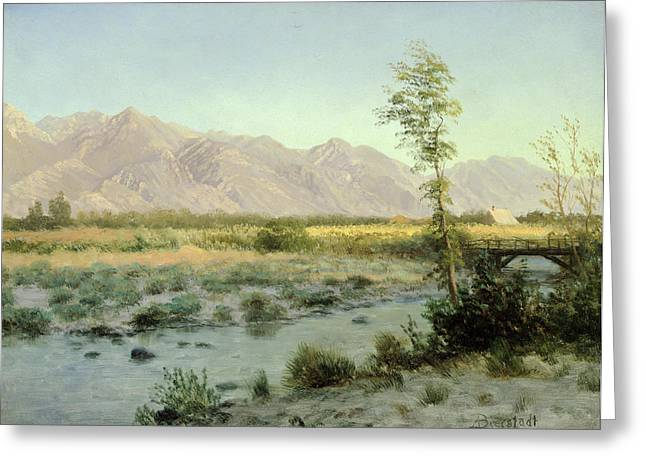 Prairie Landscape Greeting Card by Albert Bierstadt